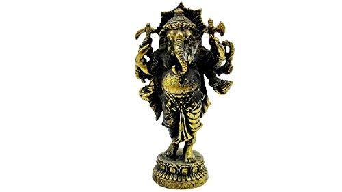 Poseidon God Costume (Lord ganesh god of beginning success om shri ganeshaya brass sculptures statue antique with amulet case)