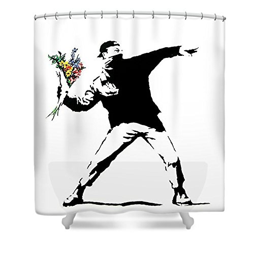 Banksy Shower Curtain