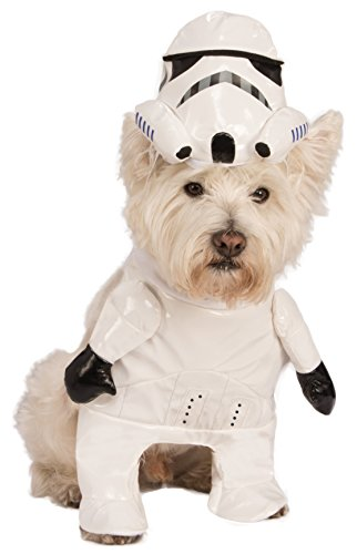 Rubies Costume Star Wars Walking Stormtrooper Pet Costume, (Stormtrooper Dog Costumes)