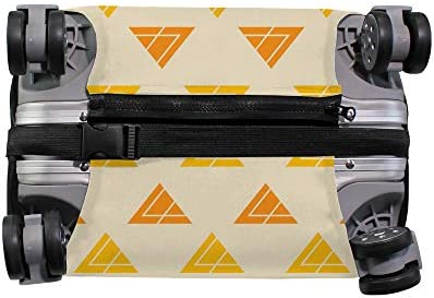 スーツケースカバー 三角形 北欧風 伸縮素材 キャリーバッグ お荷物カバ 保護 傷や汚れから守る ジッパー 水洗える 旅行 出張 S/M/L/XLサイズ