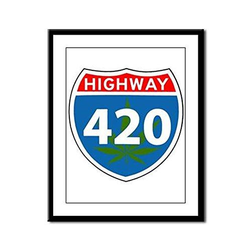 Framed Panel Print Marijuana Highway 420 -