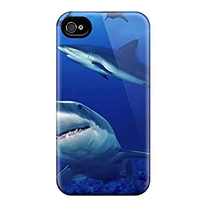 New Arrival Shark Swarm For Iphone 4/4s Case Cover
