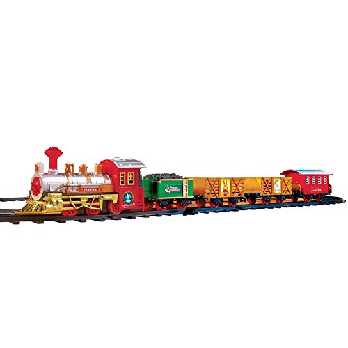Boys The Classic Christmas Train Set for Under the Tree White Christmas Express Train Set