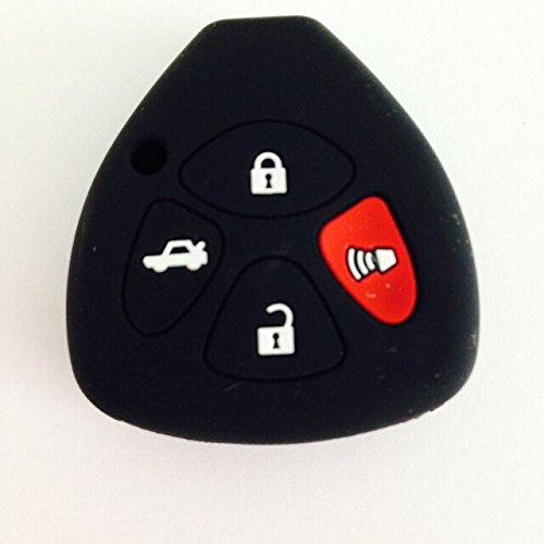 Black Silicone Key Jacket Key Case 4BTs Remote Fob Skin Cover Key Holder Protector for TOYOTA Camry Avalon Matrix Corolla 2013 TOYOTA Land Cruiser