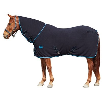 Weatherbeeta Fleece Combo Neck Cooler Sheet - 84 - Navy/Red/White Weatherbeeta Cooler