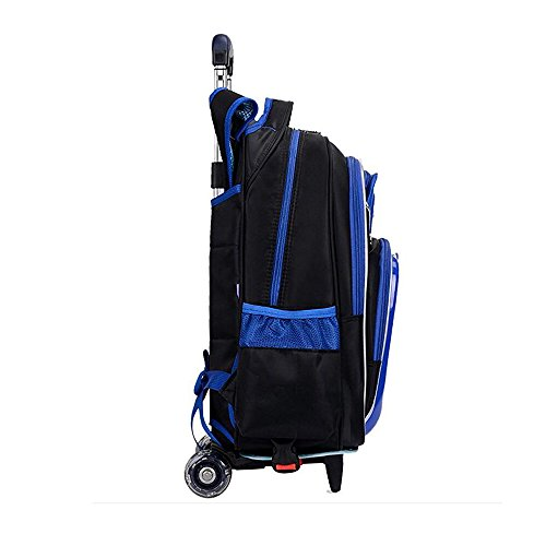 5bf51cc2c6e3 Children Football School Bags Boys Orthopedic Backpack with Wheels ...