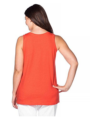 sheego Casual Top tallas grandes Mujer Coral
