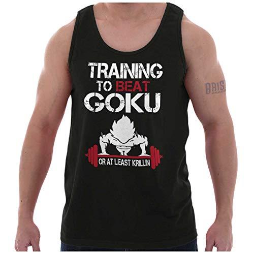Training to Beat Goku Super Nerdy Ninja Tank Top Black -