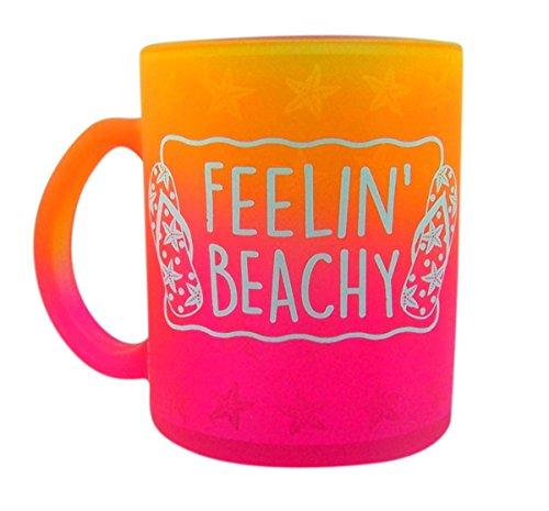 Feelin' Beachy Pink Flip Flop Nautical Ceramic Mug, 14 oz ...