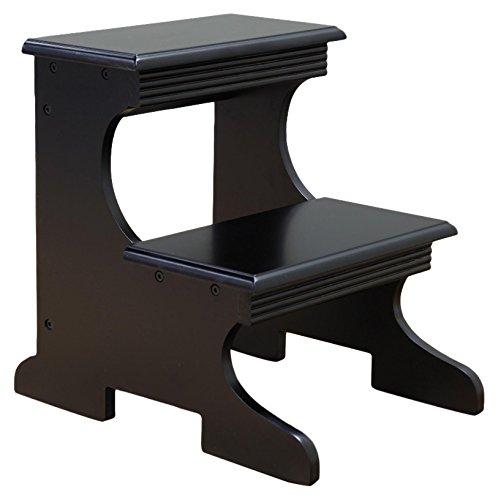 Frenchi Home Furnishing Step Stool, Black (Black Step Stool)