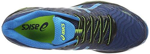 Asics Gel-Nimbus 18, Zapatillas de Running Para Hombre Multicolor (Poseidon/Blue Jewel/Safety Yellow)