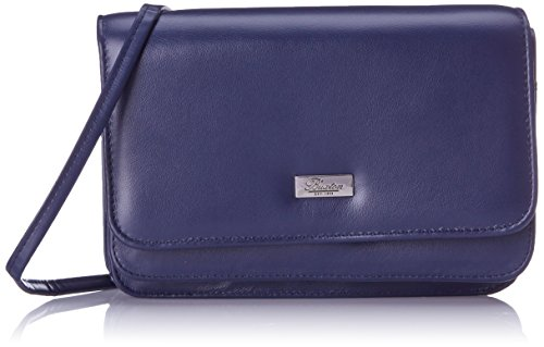 Buxton Double Flap Mini Cross Body Bag, Navy, One Size