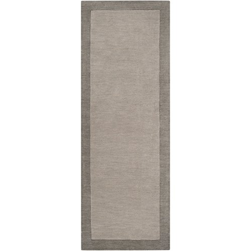Surya MDS-1000 Madison Square Pewter 2-Feet 6-Inch by 8-Feet Area Rug