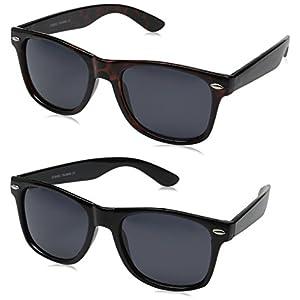 zeroUV ZV-8452mn Polarized Wayfarer Sunglasses (Pack of 2)