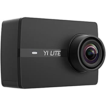 YI Lite Action Camera, 16MP Real 4K Sports Camera with Built-in WiFi, 2 Inch Touchscreen and 150° Wide Angle Lens - Black
