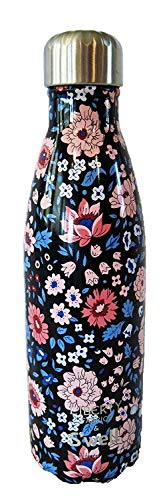 Starbucks Christmas 2017 Swell Insulated Water Bottle w/ Liberty of London Fabrics Original Artworks with floral and paisley prints (Pink Dogwood)