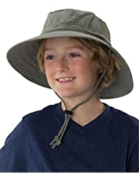 Sun Protection Zone Kids Unisex Outdoor Booney Hat (Olive Green)