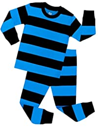 Boys Striped Pajamas Children PJs Christmas Gift Set Size 2 to 12 Years