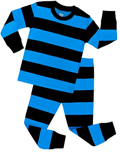 Boys Striped Pajamas Children PJs Christmas Gift Set Size 5 Years