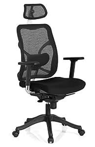 HJH Office 700000 Taurus Max - Silla de oficina con respaldo de red, color negro