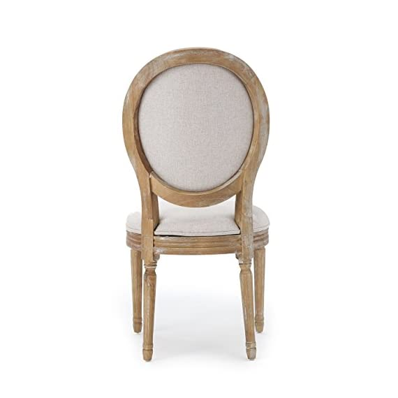 Christopher Knight Home 300258 Phinnaeus Fabric Dining Chairs, 2-Pcs Set, Beige - This traditional dining chair is perfect for any dining room. Featuring distressed wood with soft edges along the chair, it is sure to Complement any Classic Décor. The extra plus seating also provides maximum comfort while dining, giving your dinner parties an instant win. Includes: two (2) dining chairs Material: fabric (100% polyester), rubberwood   color: Beige, natural Finish - kitchen-dining-room-furniture, kitchen-dining-room, kitchen-dining-room-chairs - 41IPiqAVOOL. SS570  -