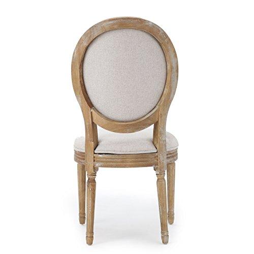 Christopher Knight Home 300258 Phinnaeus Beige Fabric Dining Chair (Set of 2), by Christopher Knight Home (Image #7)