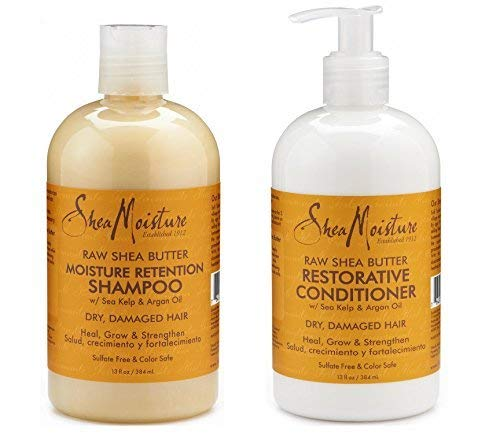 Shea Moisture Raw Shea Butter Restorative Shampoo 13oz and C
