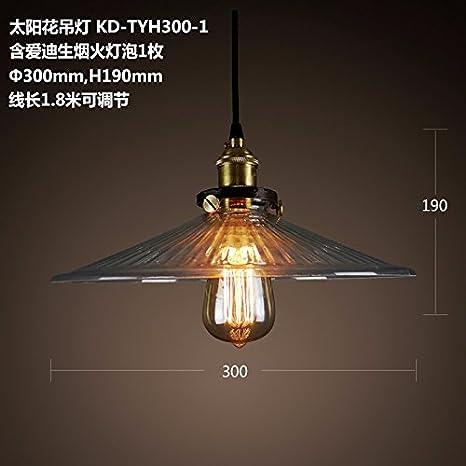 GQLB Vetro per lampadari stile Liberty Girasole Soggiorno le luci ...