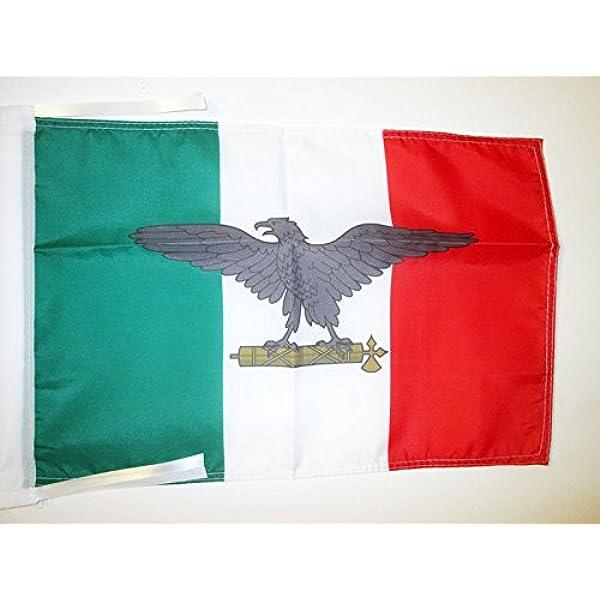 AZ FLAG Bandera de la REPÚBLICA Social Italiana 45x30cm - BANDERINA Italia FASCISTA - RSI 30 x 45 cm cordeles: Amazon.es: Hogar