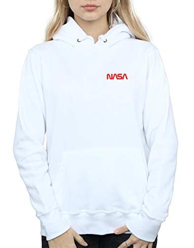 Absolute Logo Cult Nasa Modern À Femme Blanc Pocket Sweat Capuche fwBfZnvq4