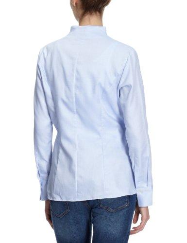 Jacques Britt - Blusa con cuello mao de manga larga para mujer Azul (12 - bleu)