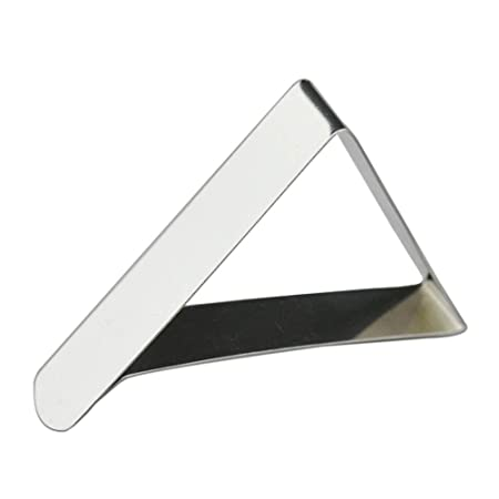 Toyvian Tri/ángulo Manteles Clips de Acero Inoxidable Ajustable Mesa Runner Holder Clamps 5cm 10pcs