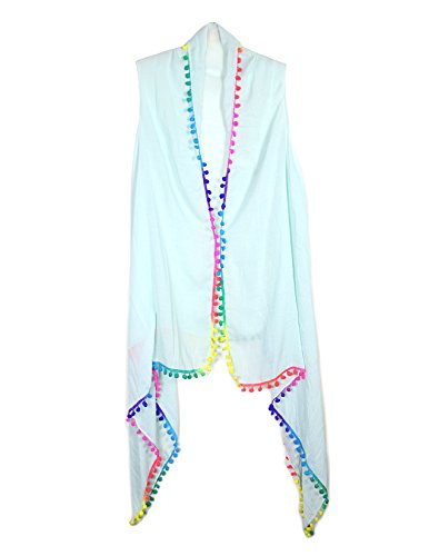 womens-summer-beachwear-draping-style-vest-cover-up-with-pom-pom-or-tasselpompommint