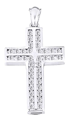 1.9 Ct Round Cut White CZ Hip Hop Men's Cross Pendant In 14K Gold Over Sterling Silver by wishrocks