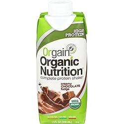 Orgain Organic Nutrition Shake, Creamy Chocolate Fudge, 11 Ounce, 12 Count