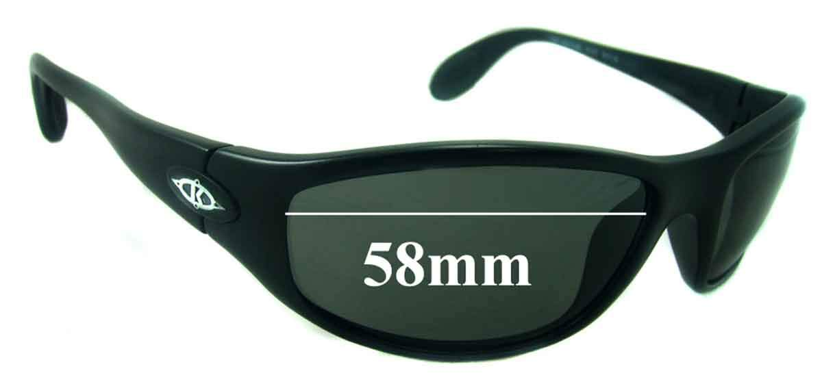 SFX Replacement Sunglass Lenses fits Killer Loop KL4105 The Groove 58mm Wide