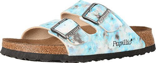 Birkenstock Unisex Arizona Pixel Blue Birko-flor Sandals - 7-7.5 2A(N) US Women