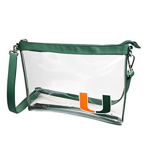 Capri Designs Clear Large Crossbody Bag Stadium Approved - UM Hurricanes