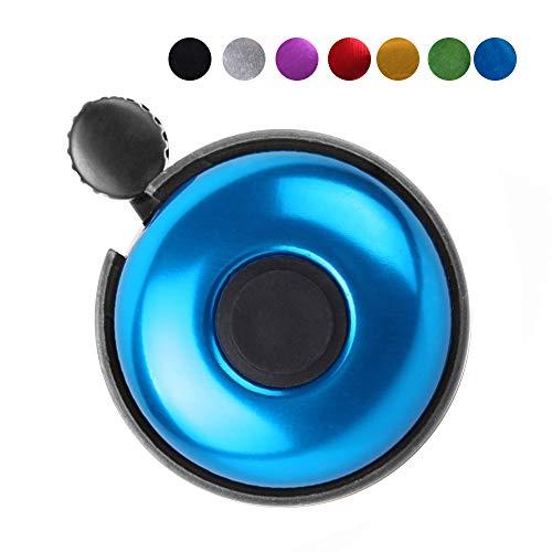 REKATA Aluminum Bike Bell, Loud Sound Bicycle Bell (Blue)