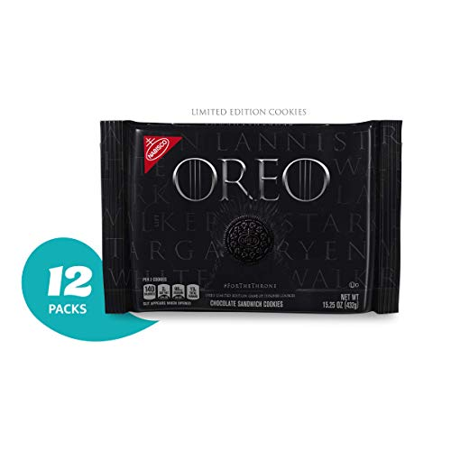 OREO Limited Edition Game of Thrones Themed Classic Chocolate Sandwich Cookies (Pack of 12), Black (Best Limited Edition Games)