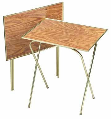 "Quaker Tray Table Honey Oak 21"" X 15"" Oak Laminated Tops"