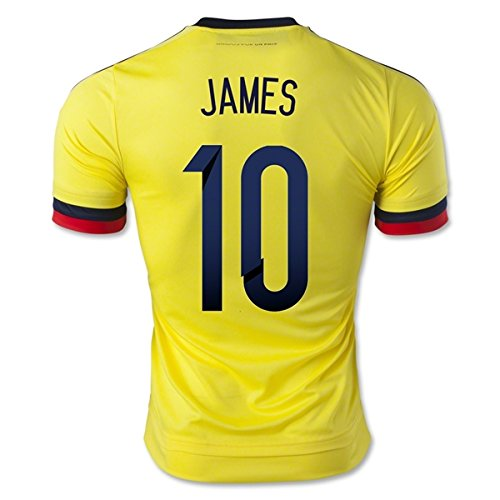Colombia Home 2015 Jersey with James 10 Printing
