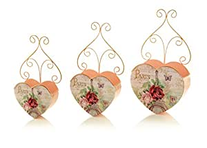 Decoraciones de Premier BA141425diseño de París maceteros de corazón (Pack de 3)