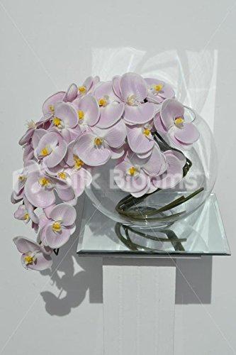 Gorgeous artificial Fresh Touch rosa orquídea arreglo Floral en cascada con pecera jarrón