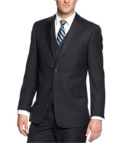 (Tommy Hilfiger Men's 2 Button Side Vent Suit Separate Jacket, Navy Stripe, 38)