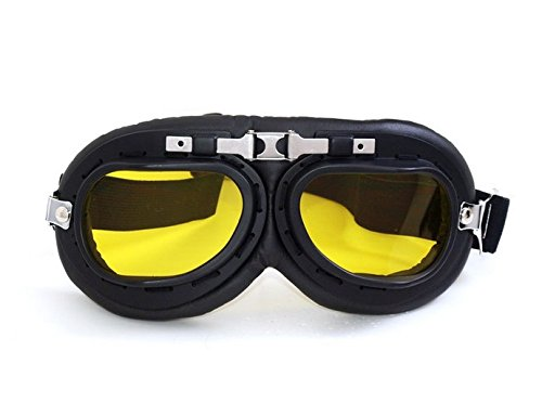 Sugar_man Motorcycle Outdoor Sports ATV Riding Scooter Driving WWII RAF Vintage Protect Helmet Glasses Goggles (A5) For HONDA JADE/S(FM/2/FN-3/FP/FP-2) 1991-1992