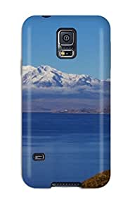 Galaxy S5 Case, Premium Protective Case With Awesome Look - Titicaca Lake