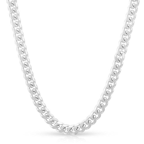 Sterling Silver Italian 4mm Miami Cuban Curb Link Thick ITProLux Solid 925 Necklace Chain 16