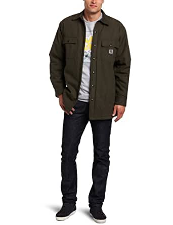 Carhartt men 39 s big tall chore flannel lined for Big and tall lined flannel shirts