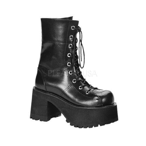 - Pleaser Women's Ranger-301 Platform Calf Boot,Black,8 M US